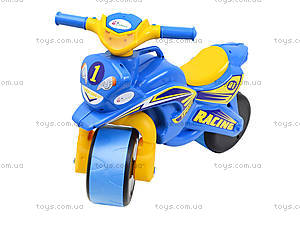 Мотоцикл-каталка «Спортивный байк», синий, 013910, фото