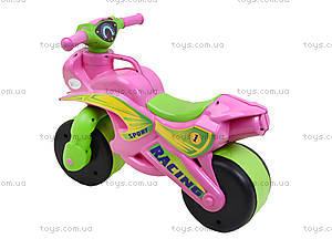 Мотоцикл-каталка «Байк Спорт», розовый, 013930, отзывы