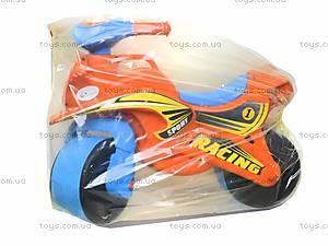 Мотоцикл-каталка для детей «МотоБайк», красный, 01392, игрушки