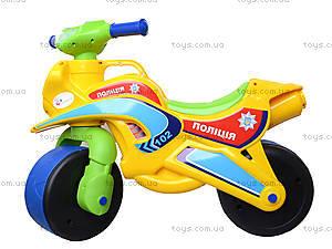 Мотоцикл-каталка для детей «Спорт», зеленый, 013950, детские игрушки
