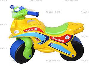 Мотоцикл-каталка для детей «Спорт», зеленый, 013950, магазин игрушек