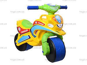 Мотоцикл-каталка для детей «Спорт», зеленый, 013950, toys.com.ua