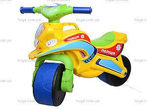 Мотоцикл-каталка для детей «Спорт», зеленый, 013950, toys