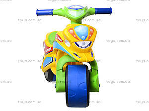 Мотоцикл-каталка для детей «Спорт», зеленый, 013950, іграшки
