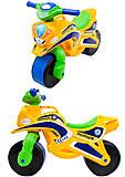 Мотоцикл-каталка для детей «Полиция», желтый, 013953, фото