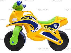 Мотоцикл-каталка для детей «Полиция», желтый, 013953, отзывы