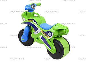 Полицейский мотоцикл-каталка, зеленый, 013952, купить