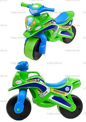 Полицейский мотоцикл-каталка, зеленый, 013952