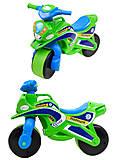 Полицейский мотоцикл-каталка, зеленый, 013952, детский