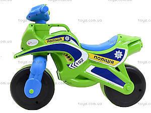 Полицейский мотоцикл-каталка, зеленый, 013952, отзывы