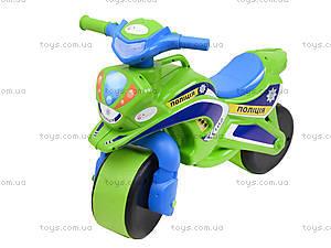Полицейский мотоцикл-каталка, зеленый, 013952, цена