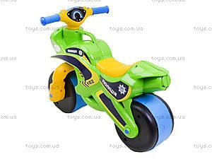 Мотоцикл-каталка «Полицейский байк», зеленый, 013958, купить