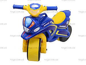 Мотоцикл-каталка для детей «Байк», синий, 013957, фото