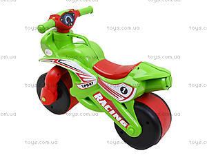 Детский мотоцикл-каталка «Спорт», зеленый, 01395, купить