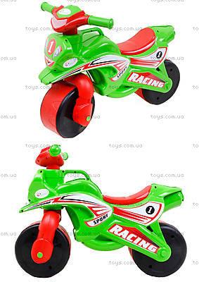 Детский мотоцикл-каталка «Спорт», зеленый, 01395