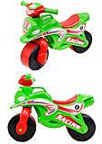 Детский мотоцикл-каталка «Спорт», зеленый, 01395, фото