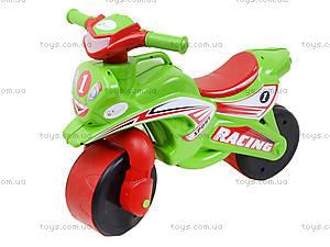 Детский мотоцикл-каталка «Спорт», зеленый, 01395, цена