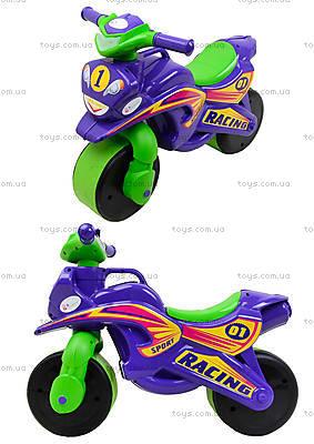 Детский мотоцикл-каталка «МотоБайк», фиолетовый, 01396