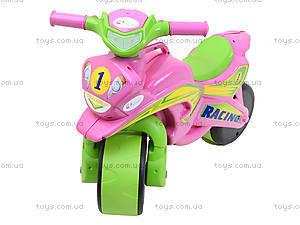 Мотоцикл-каталка для девочек «Байк», розовый, 01393, фото