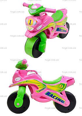 Мотоцикл-каталка для девочек «Байк», розовый, 01393
