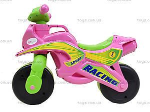 Мотоцикл-каталка для девочек «Байк», розовый, 01393, отзывы