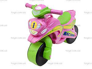 Мотоцикл-каталка для девочек «Байк», розовый, 01393, цена