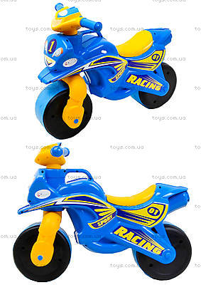 Мотоцикл-каталка «Спорт», синий, 01391