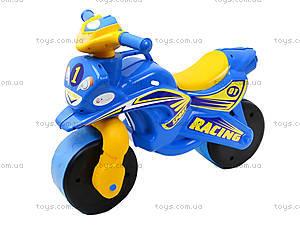 Мотоцикл-каталка «Спорт», синий, 01391, цена