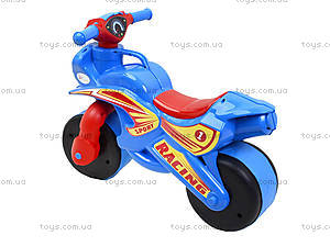 Детский мотоцикл-каталка «Спортивный байк», синий, 01394, купить