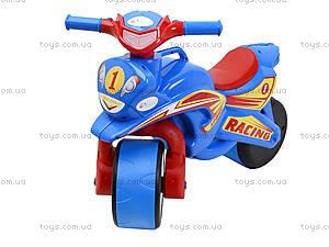 Детский мотоцикл-каталка «Спортивный байк», синий, 01394, фото