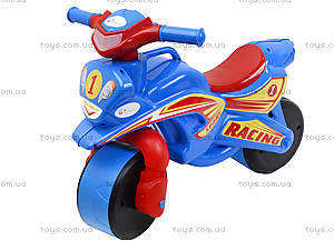Детский мотоцикл-каталка «Спортивный байк», синий, 01394, цена