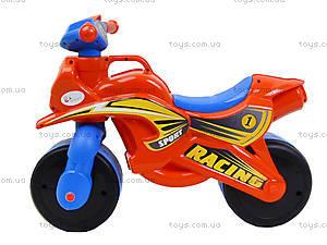 Мотоцикл-каталка для детей «МотоБайк», красный, 01392, купить