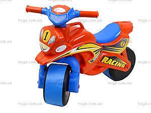 Мотоцикл-каталка для детей «МотоБайк», красный, 01392, фото