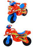 Мотоцикл-каталка для детей «МотоБайк», красный, 01392