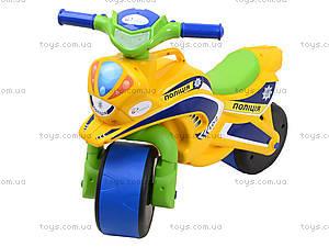 Мотоцикл-каталка «Полиция», желтый, 0139530