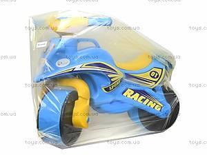 Мотоцикл-каталка «Спорт», синий, 01391, игрушки