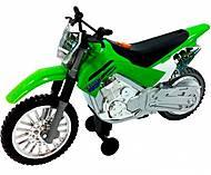 Мотоцикл Kawasaki KLX 140 Moto-Cross Bike со светом и звуком, 33412