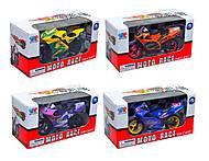 Игрушечный мотоцикл, металлический, XY028, отзывы