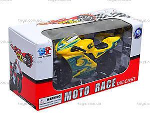 Игрушечный мотоцикл, металлический, XY028, детские игрушки