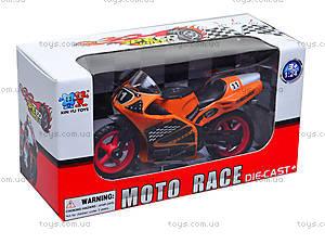 Игрушечный мотоцикл, металлический, XY028, toys.com.ua