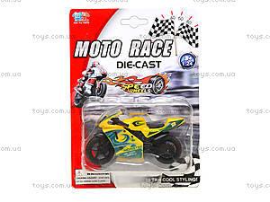 Мотоцикл металлический Moto Race, XY027, купить