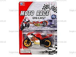 Мотоцикл металлический Moto Race, XY027, фото