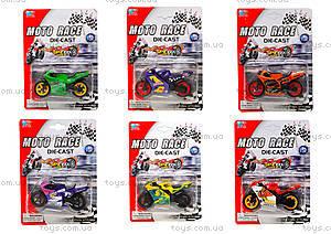 Мотоцикл металлический Moto Race, XY027