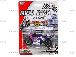 Мотоцикл металлический Moto Race, XY027, цена