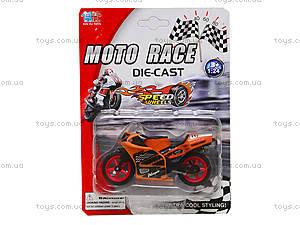 Мотоцикл металлический Moto Race, XY027, игрушки
