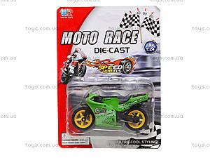 Мотоцикл металлический Moto Race, XY027, детские игрушки