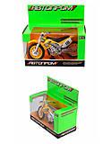 АВТОПРОМ - мотоцикл, 4 цвета, 7830, toys