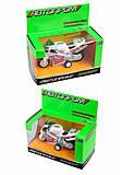Мотоцикл металлический, 4 цвета, 7832, іграшки