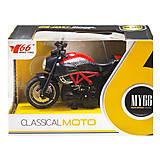 Мотоцикл металлопластиковый красный, M66M-1216, фото