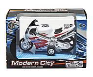 Мотоцикл «Modern City» белый, M8538-24, фото